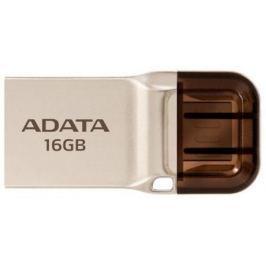 Флешка USB 16Gb A-Data UC360 USB 3.1/MicroUSB AUC360-16G-RGD золотистый