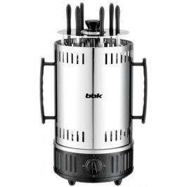 Электрошашлычница BBK BBQ603T серебристый черный