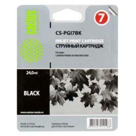 Картридж CACTUS CS-PGI7BK для Canon Pixma MX7600/iX7000, чёрный, 570 стр.