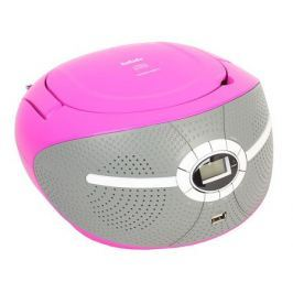 Аудиомагнитола BBK BX195U розовый