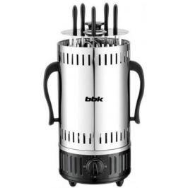 Электрошашлычница BBK BBQ601T серебристый черный