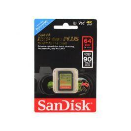 Карта памяти SDXC 64Gb Sandisk Extreme Plus UHS-I U3 SDSDXWF-064G-GNCIN
