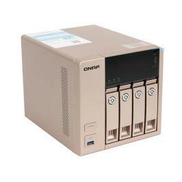 Сетевой накопитель QNAP TVS-463-8G Сетевой RAID-накопитель, 4 отсека для HDD, HDMI-порт. Четырехъядерный AMD 2.4 ГГц, 8ГБ оперативной памяти.