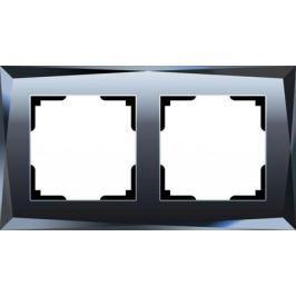 Рамка Diamant на 2 поста черный WL08-Frame-02 4690389054402