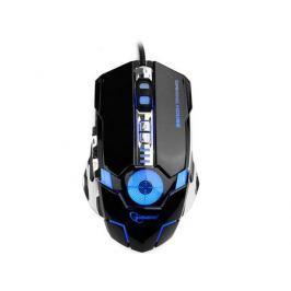 Мышь проводная Gembird MG-530, USB, 5кнопок+колесо-кнопка+кнопка огонь, 3200DPI, подсветка, 1000 Гц, программное обеспечение для создания макросов