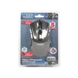 Мышь CBR CM-377 Black , оптика, кнопка двойной клик, 1200/1600/2400/3200 dpi, 6 кн., провод 1,3 м, USB