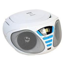 Аудиомагнитола BBK BX180U белый/голубой