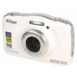 Фотоаппарат Nikon Coolpix W100 White Holiday KIT (13.2Mp, 3x zoom, 2.7