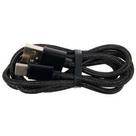 Кабель USB/USB Type C Jet.A JA-DC31 1м черный (в оплётке, поддержка QC 3.0, пропускная способность 2A)