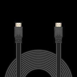 Цифровой кабель HDMI-HDMI c плоским поперечным сечением провода JA-HD10 10 м (версия 2.0 с поддержкой 3D, Ultra HD 4К/Ethernet, 19 pin, 28 AWG, CCS, к