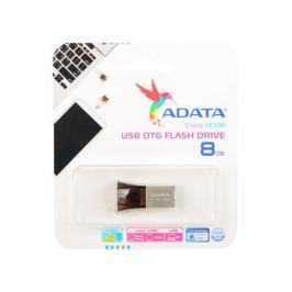 Флешка USB 8Gb A-Data UC330 AUC330-8G-RBK черный серебристый