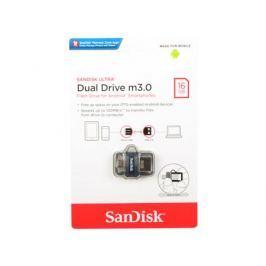 USB флешка SanDisk Ultra Dual Drive 16GB Black (SDDD3-016G-G46) USB 3.0, microUSB