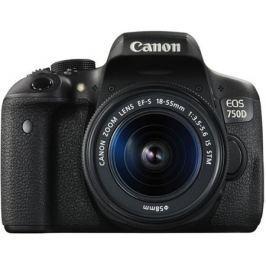 Зеркальный фотоаппарат Canon EOS 750D DBL KIT Black 24.2 Mp, / max 6000x4000 / экран 3