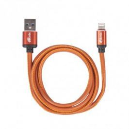 Кабель Lightning 8 pin-USB, 1 метр, 2,5 A, мет. коннекторы, зарядка и синхронизация, оплетка из экокожи RITMIX RCC-425 Leather