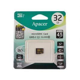 Карта памяти MicroSDHC 32GB Apacer UHS-1 CL10 без адаптера (AP32GMCSH10U1-RA)