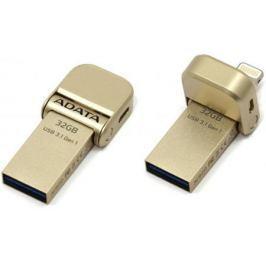 Флешка USB 32Gb A-Data AI920 AAI920-32G-CGD золотистый USB 3.1 / Lightning