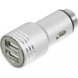 Автомобильное зарядное устройство Wiiix UCC-2-12 2.1/1А 2 х USB серебристый
