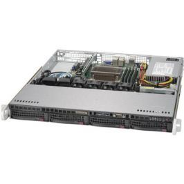 Серверная платформа Supermicro 1U 5019S-MN4, No CPU E3-1200v5/6, No Mem, no HDD (up to 4x3.5), SATA RAID (0/1/5/10), 4x1GbE, M.2/1xPCIe, 350W Fixed