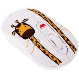 Мышь беспроводная Crown CMM-928W giraffe белый USB