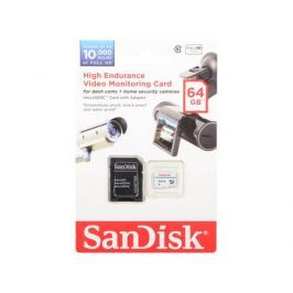 Карта памяти Micro SDXC 64Gb Class 10 Sandisk SDSDQQ-064G-G46A + адаптер
