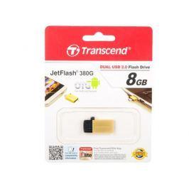 USB флешка Transcend Jetflash 380 OTG 8GB Gold (TS8GJF380G) USB 2.0