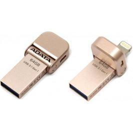 Флешка USB 64Gb A-Data i-Memory AI920 USB 3.1/Lightning AAI920-64G-CRG розовое золото