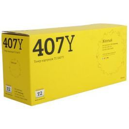 Картридж T2 TC-S407Y для Samsung CLP-320/325/CLX-3185. Жёлтый. 1000 страниц. (CLT-Y407S)