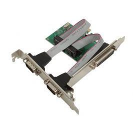 Контроллер ORIENT XWT-PE2S1PV2, PCI-E to COM 2-port + LPT 1-port (WCH CH382) oem
