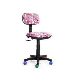 Кресло Recardo Junior DA03 (разноцветные ролики, цвет обивки - розовый, рисунок на обивке)