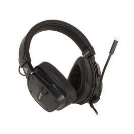Наушники (гарнитура) QCYBER SWAP Black Проводные / Накладные с микрофоном / Черный / 20 Гц - 20 кГц / 100 дБ / USB