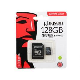 Карта памяти MicroSDXC 128GB Kingston Canvas Select 80R CL10 UHS-ISP с адаптером (SDCS/128GB)
