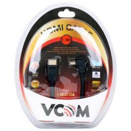 Кабель VCOM HDMI 19M/M-угловой коннектор 1.8м, 1.4V позолоченные контакты (VHD6260D-1.8MB) Blister