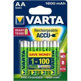 Аккумуляторы 1600 mAh Varta R2U AA 4 шт