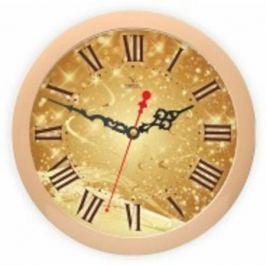 Часы Вега П1-14/7-306 бежевый