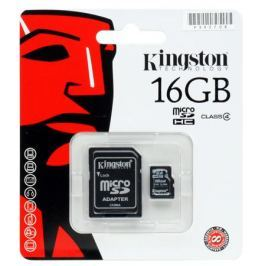 MicroSDHC Kingston 16GB Class 4 + Адаптер (SDC4/16GB)