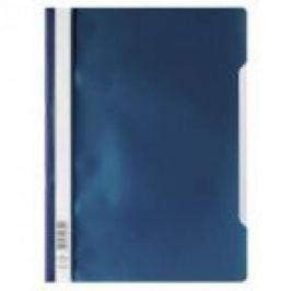 Папка-скоросшиватель, темно-синяя, ф. А4, штрих-код