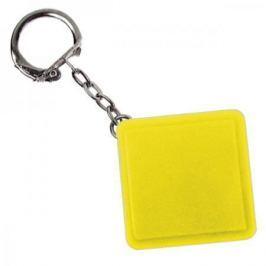 Брелок-рулетка квадратный, пластик, желтый