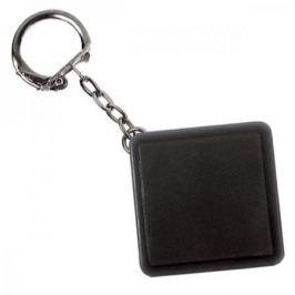 Брелок-рулетка квадратный, пластик, черный