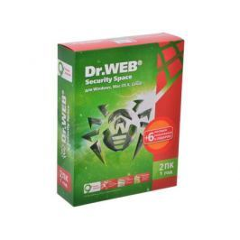 Антивирус Dr. Web Security Space (BHW-B-12M-2-A3) 2 ПК на 12 мес