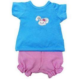 Одежда для куклы Mary Poppins 38-43см, футболка и шорты Зайка 201