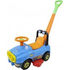 Каталка-машинка Molto Джип-каталка с ручкой №2 пластик от 1 года на колесах голубой