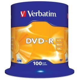 DVD-R Verbatim 4.7Gb 16х 100шт Cake Box