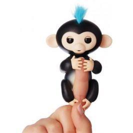 Интерактивная мягкая игрушка обезьянка ФИНН (черная), 12см 3701A
