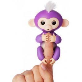 Интерактивная мягкая игрушка обезьянка МИА (фиолетовая), 12см 3704A