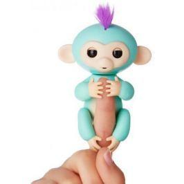 Интерактивная мягкая игрушка обезьянка ЗОЯ (зеленая), 12см 3706A
