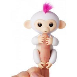 Интерактивная мягкая игрушка обезьянка СОФИЯ (белая), 12см 3702A