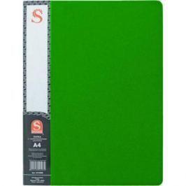Папка с 40 файлами, форзац, ф.А4, зеленая