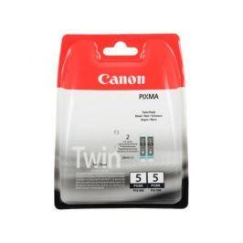 Картридж Canon PGI-5BK TWIN PACK для PIXMA MP800/MP500/iP5200/iP5200R/iP4200R/IX4000/IX5000. Двойная упаковка. Чёрный. 505 страниц/шт.