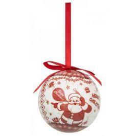 Набор шаров блестящих ВЕСЕЛЫЙ ДЕД МОРОЗ, 4 шт. в подарочной коробке, 7,5 см