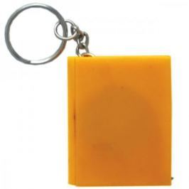 Брелок-рулетка КНИГА, пластик, оранжевый